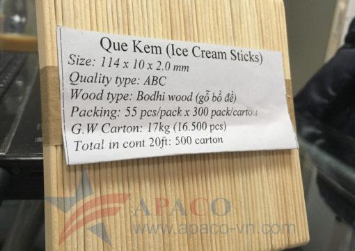 Vietnam Wooden sticks for ice cream manufacturers